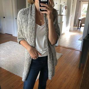Sonoma Grey/White Cardigan
